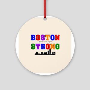 Boston strong pillow Ornament (Round)
