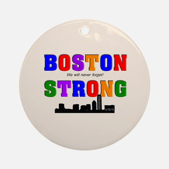 Boston strong pillow Ornament (Round)