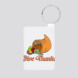 Give Thanks Aluminum Photo Keychain