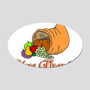 Give Thanks 20x12 Oval Wall Decal