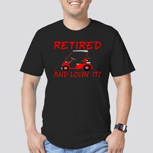 Retired And Lovin' It Men's Fitted T-Shirt (dark)