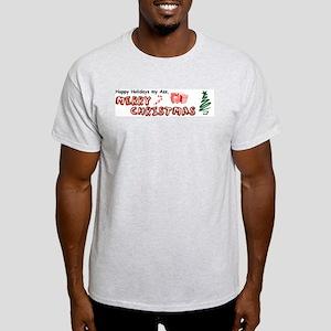 Happy Holidays My Ass, Merry  Ash Grey T-Shirt