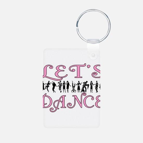 Let's Dance Aluminum Photo Keychain