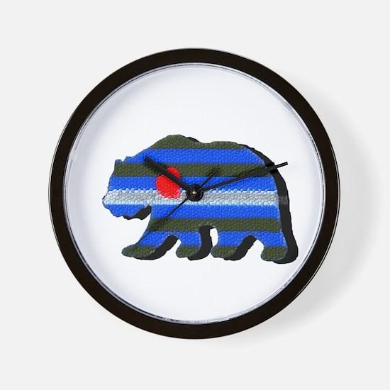 LEATHER BEAR/BLK SHADOW Wall Clock