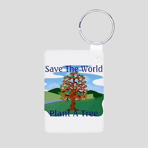 Plant A Tree Aluminum Photo Keychain