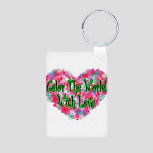 Color The World Aluminum Photo Keychain