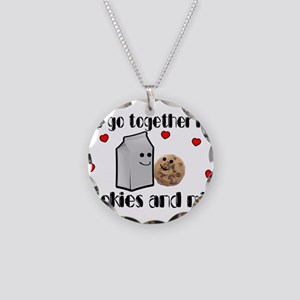 Cookies And Milk Necklace Circle Charm