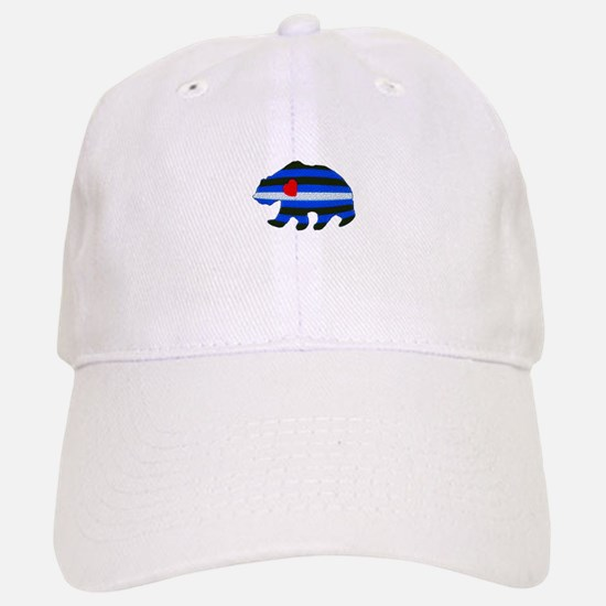LEATHER BEAR TEXTURED Baseball Baseball Cap