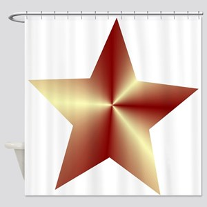 Bronze Star Shower Curtain