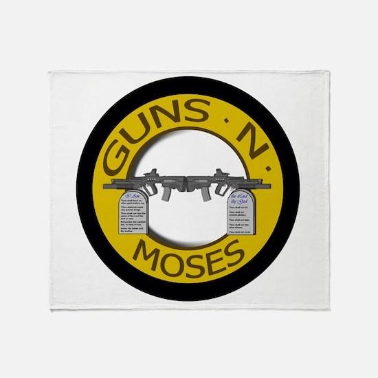 Guns N Moses Throw Blanket