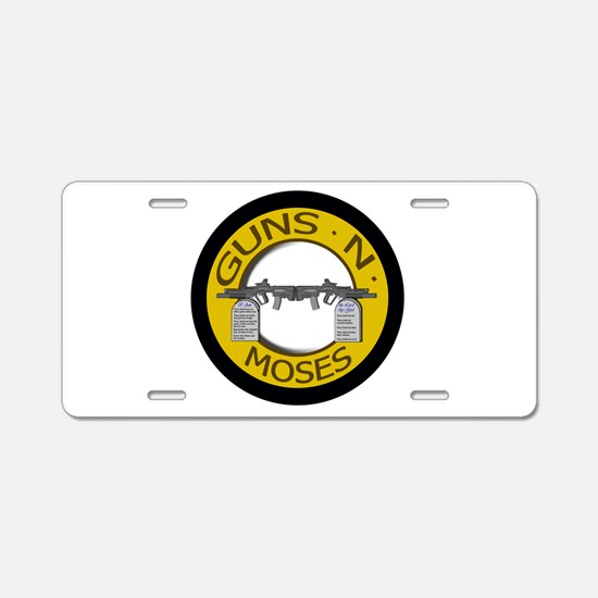 Guns N Moses Aluminum License Plate