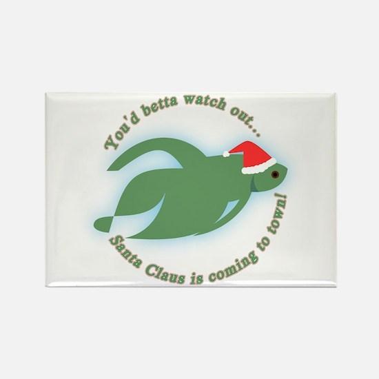 Betta Fish Christmas Rectangle Magnet