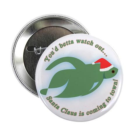 Betta Fish Christmas Button