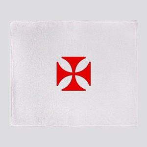 TILE EAC white RED Throw Blanket