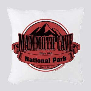mammoth cave 4 Woven Throw Pillow
