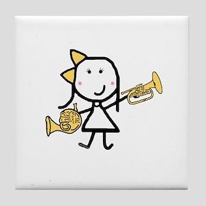 Mello & French Horn Tile Coaster