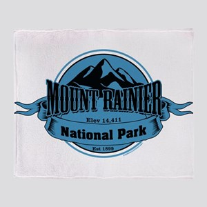 mount rainier 4 Throw Blanket