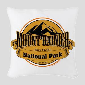 mount rainier 4 Woven Throw Pillow