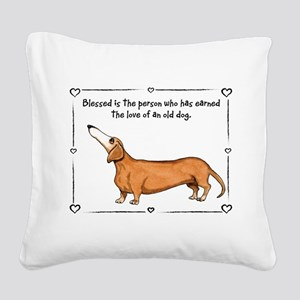Old dog Love Square Canvas Pillow