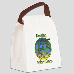Global Nursing Informatics Canvas Lunch Bag