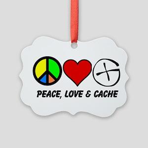 Peace, Love Cache Ornament