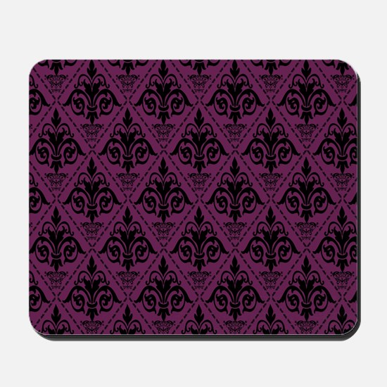 Black & Alyssum Damask #29 Mousepad