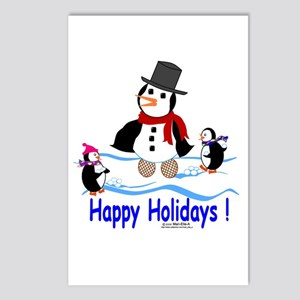 Penguin Holidays Postcards (Package of 8)