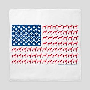 Patriotic Greyhounds Queen Duvet
