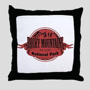rocky mountains 2 Throw Pillow
