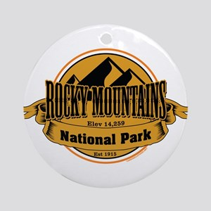 rocky mountains 5 Ornament (Round)