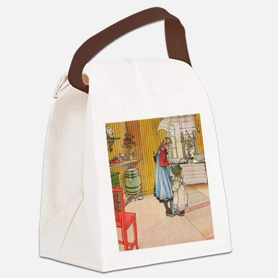 Churning Butter (square) Canvas Lunch Bag
