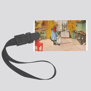 Churning Butter Luggage Tag