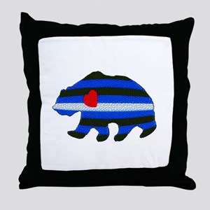 LEATHER BEAR TEXTURED Throw Pillow