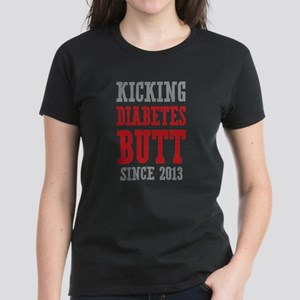 Diabetes Butt Since 2013 Women's Dark T-Shirt