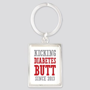 Diabetes Butt Since 2013 Portrait Keychain