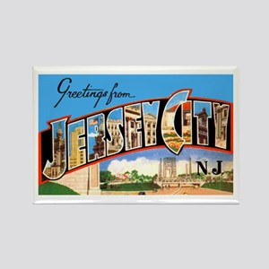 Jersey City New Jersey Greetings Rectangle Magnet