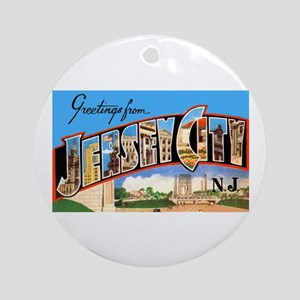 Jersey City New Jersey Greetings Ornament (Round)