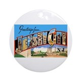 Jersey city nj Round Ornaments