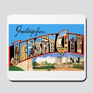 Jersey City New Jersey Greetings Mousepad