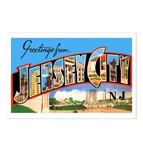 Jersey City New Jersey Greetings Postcards (Packag