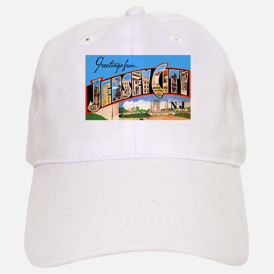 Jersey City New Jersey Greetings Cap