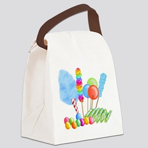 candy circus boy-  Canvas Lunch Bag