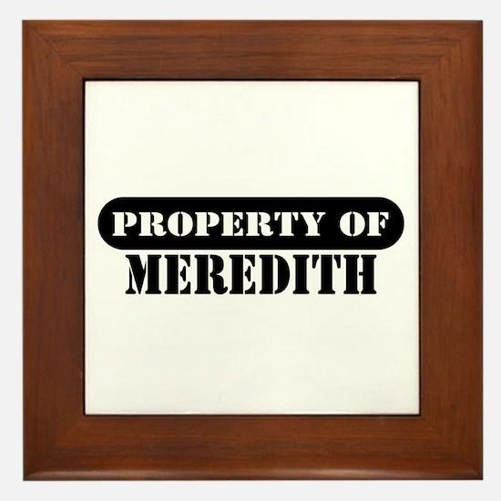 Property of Meredith Framed Tile