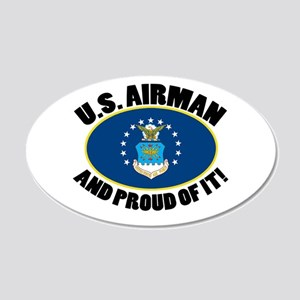 Proud Airman 20x12 Oval Wall Decal