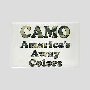 Camo America's Away Colors Rectangle Magnet