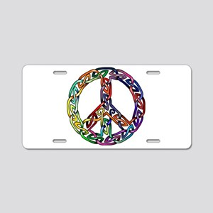 Pride and Peace Aluminum License Plate