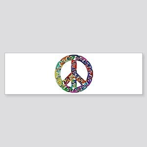 Pride and Peace Bumper Sticker