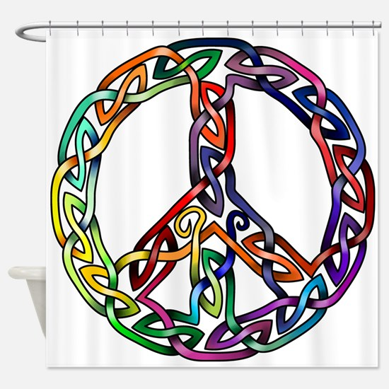 Pride and Peace Shower Curtain