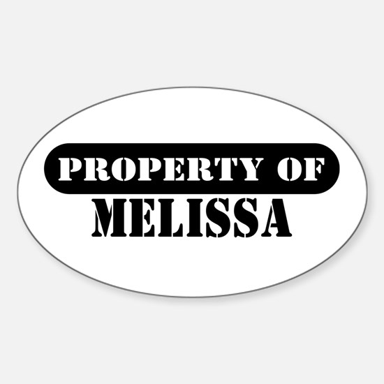 Property of Melissa Oval Decal