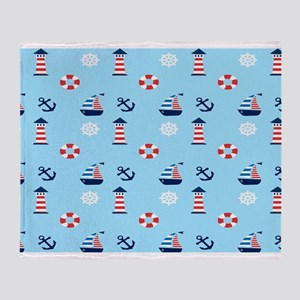 Of Lighthouses & Sailing Throw Blanket